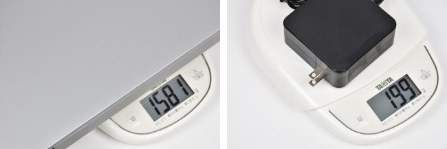 本体の重さ