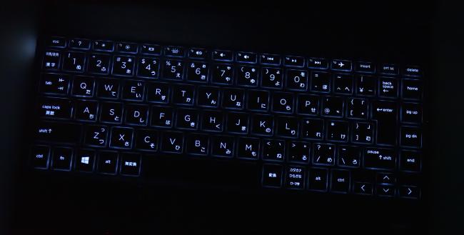 キーボードバックライト