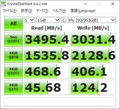 データ転送速度(Legion C530)