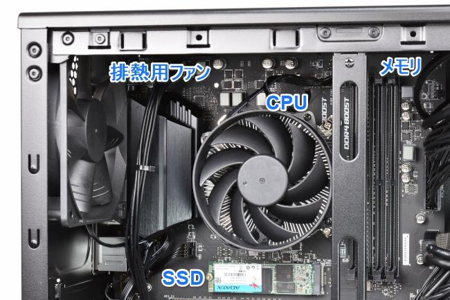 CPU、メモリ、SSD