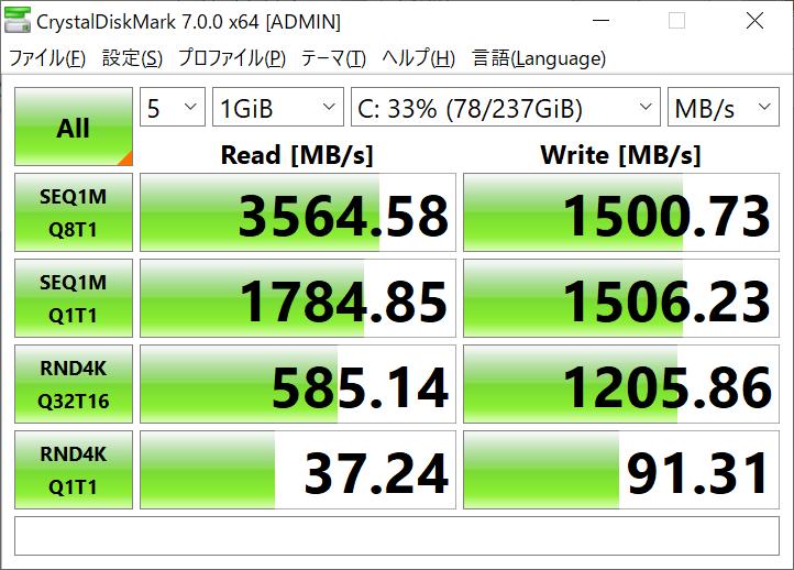データ転送速度(IdeaPad S540 (14, AMD))