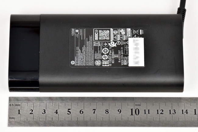電源アダプターの大きさ実測